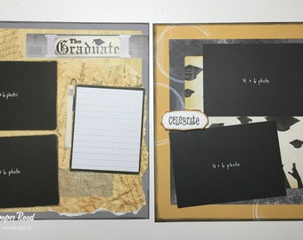 GRADUATION SCRAPBOOK ALBUM - 12x12 scrapbook album (pre-made with 20 pages)