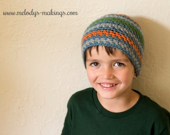 Boy Beanie Crochet Pattern - Easy Men's Hat Crochet Pattern - Easy Boy Hat Crochet Pattern - Men's Beanie Crochet Pattern