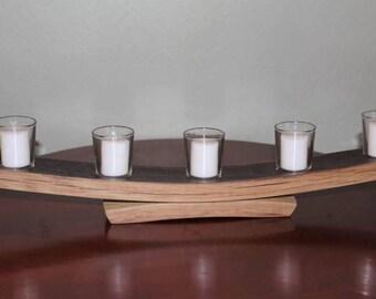 Wine Barrel Stave Candle holder / Votive Candles