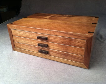 Jewelry Box--Black Walnut  & Wenge Jewelry Chest