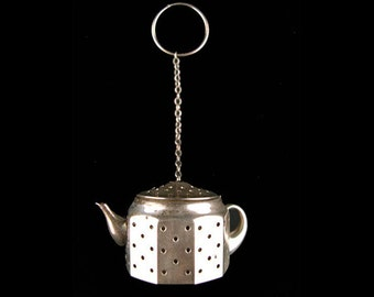 Antique Sterling Silver Amcraft Teapot Form Tea Ball Infuser