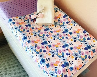 Changing Pad Cover - Changing Pad Cover Girl - Organic Changing Pad - Organic Baby Bedding - Changing Pad - Changing Pad Cover Boy