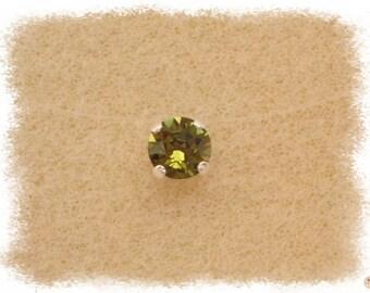 Necklace Olivine Ras thread Nylon & Swarovski Crystal neck