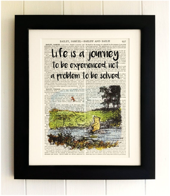 FRAMED ART PRINT On Old Antique Book Page Winnie The Pooh
