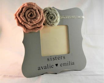 Sister to sister gifts picture frame Personalized sister frames with names