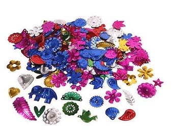 multicolored animals flowers leaves 50 g sequins shapes