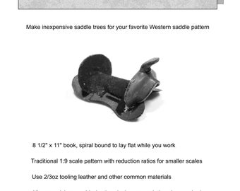 How to Make Leather  Western Saddle Trees  For the Model Horse Arena