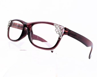 Reading glasses with dragonfly, +3,00