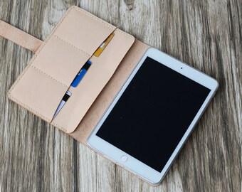 Personalized Leather ipad mini 4 Case / Leather iPad Case / iPad Air 2 Case /  iPad Pro 10.5 Case / iPad Cover - Nature Tan