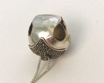"Vintage Sterling Silver Bell 18"" Necklace"