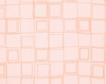 Distrikt - Parallels in Peach - Erin McMorris - Half Yard Cotton Fabric