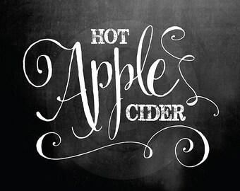 Hot Apple Cider Chalkboard Signs ---> INSTANT DOWNLOAD