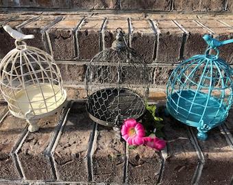 Birdcage, Birdcage Decor, Wedding Decor, Blue Birdcage, Nursery Decor, Metal Birdcage