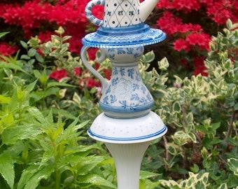 Teapot Trinket Garden Stake