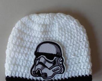 Storm tooper hat, Crochet hat,baby storm trooper hat,newborn storm trooper hat,storm trooper hat,starwars hat,