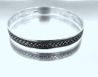 Balinese Sterling Silver Bangle Bracelet