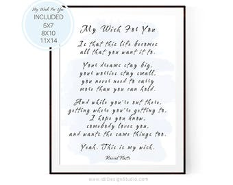 My wish for you Graduation Gift Inspirational Print Teen Room Decor Rascal Flatts Wall Art Gift Ideas Birthday Watercolor D15-26  sc 1 st  Etsy & Rascal flatts poster | Etsy