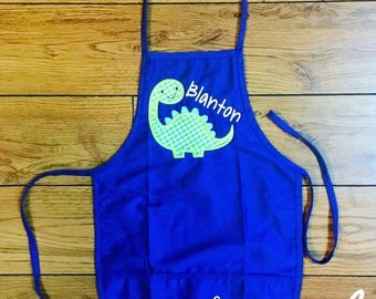 Personalized Dinosaur Appliqué Apron