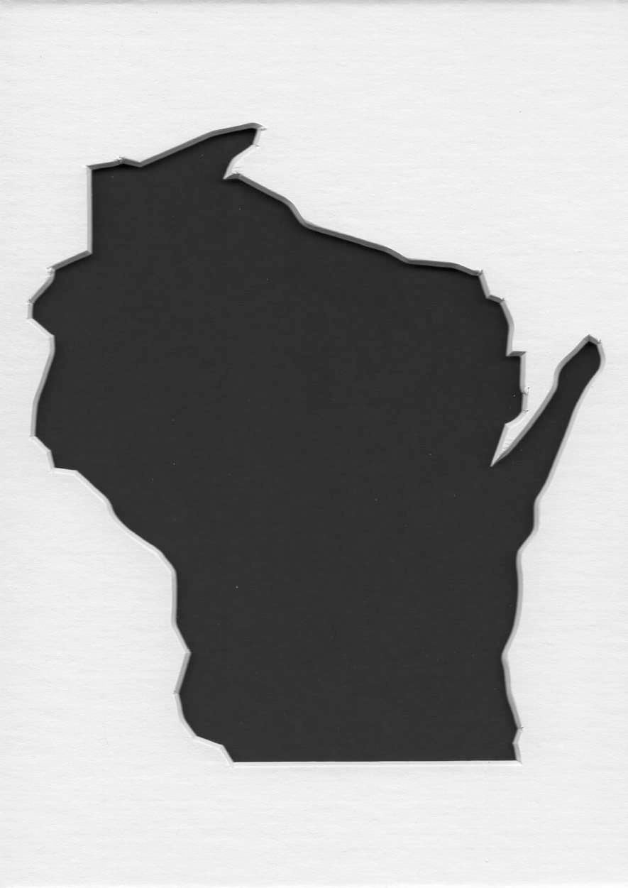 Wisconsin Stencil Made From 4 Ply Mat Board