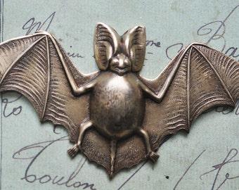 Bat Brass Stamping, Gothic Jewelry, Brass Ox, Brass Stampings, Jewelry Supplies, Jewelry making, Crafting, Scrapbooking