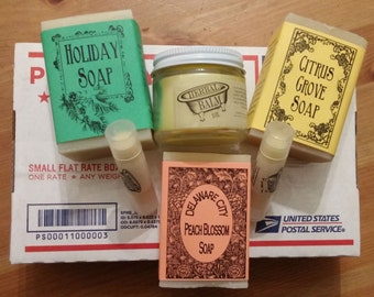 Gift Box of Soap and Body Products