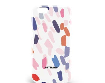 White Brush case. PVC. iPhone 4, 4s, 5, 5s, SE, 5 c, 6, 6, 6 Plus 6s Plus, 7 and 7 more, illustration, design, made in france, artmars