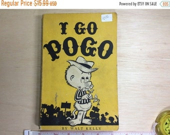 10%OFF3DAYSALE I Go Pogo Book by Walt Kelly 1952 Simon And Schuster Used Worn