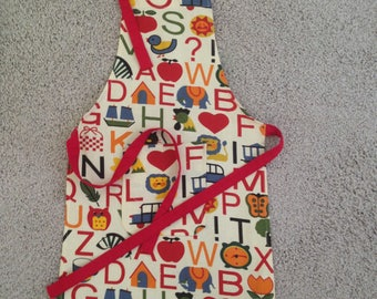 Child's  Apron with Alphabet Design