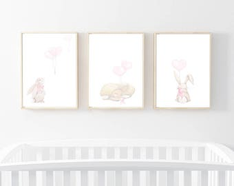 bunny art prints, rabbit nursery art, nursery prints, woodland prints, nursery art, nursery prints, bunny nursery prints, rabbit wall art