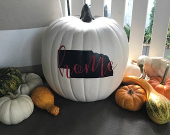 Personalized State Pumpkin Decal