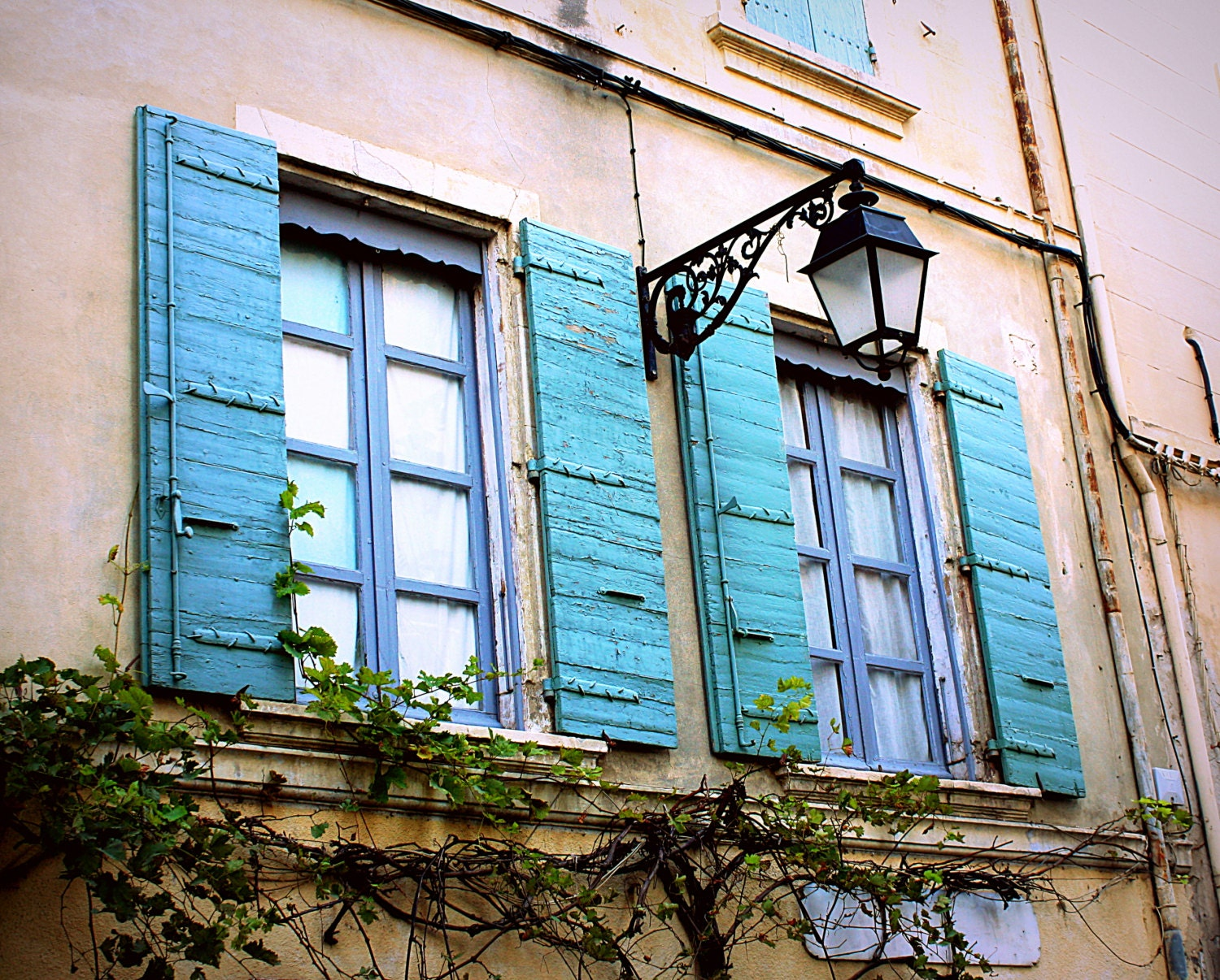 Country French Decor Rustic French Window Photo. Distressed