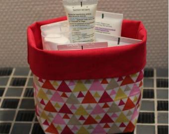 Basket of bath - reversible - triangle pattern