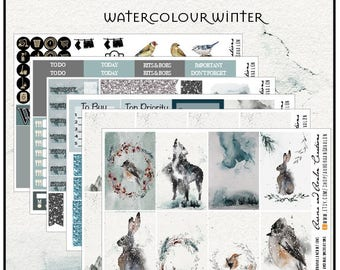 Watercolour Winter for HP, EC and Big Happy Planner