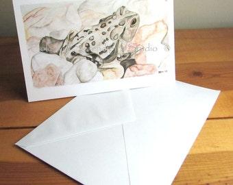 Eastern Toad - Blank Watercolor Print Card