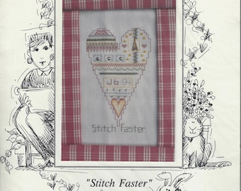 """Clearance - """"Stitch Faster"""" Counted Cross Stitch Chart by Mosey 'n Me"""