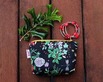 Makeup Bag Camera Bag Cosmetic Bag Gift Ideas Gift Under 20 Toiletry Bag Make Up Pouch Zipper Pouch Pencil Case Instax Floral Large Pouch