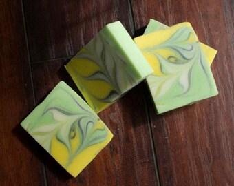 Handmade Soap Lime Cilantro  Bar Soap
