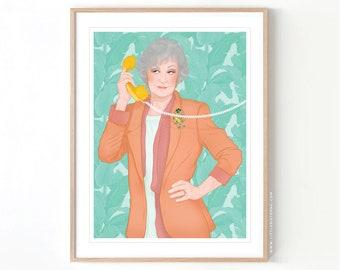 The Golden Girls Dorothy Zbornak // Giclée Archival Matte Art Print