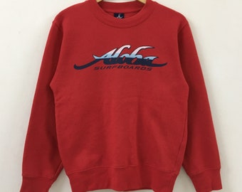 Vintage ALOHA SURF Surfboards Spellout Sweatshirt