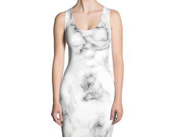 Marble Bodycon Dress