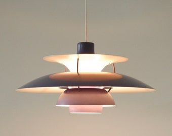 Louis Poulsen PH5 Poul Henningsen purple/lilac, vintage danish lamp light 2 AVAILABLE