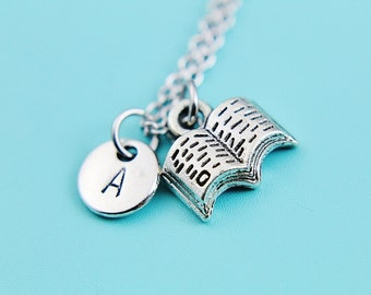 Bookworm Gift Miniature Book Necklace Miniature Book Charm Book Lover Jewelry Gifts Writers Pendants Author Gifts Writer Book Lover Gifts