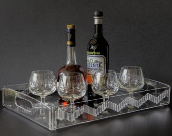 Acrylic Serving Tray - Acrylic Tray - Vanity Trays - Serving Tray - Trays - Decorative Tray - Perfume Display - Jewelry Displays - Lucite