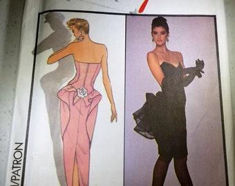 Vintage Carolina Herrera for Style strapless dress patterins 1244 size 8 unused