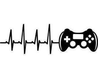 Heartbeat Video Game Vinyl Car Decal Bumper Window Sticker Any Color Multiple Sizes Jenuine Crafts
