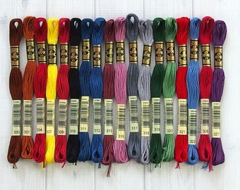 DMC Floss, Color Range 300-327, 6-Strand Cotton Thread for Embroidery, Cross Stitch and Needle Arts, sold individually