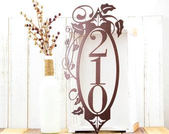 Vertical House Number Metal Sign | Vertical Address | House Numbers | Outdoor House Number | Address Plaque | Address Sign