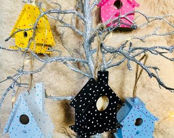 Miniature birdhouses