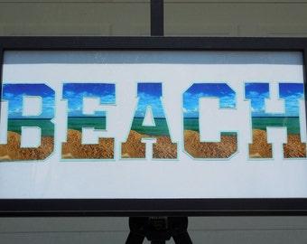 Beach Photography Word Art