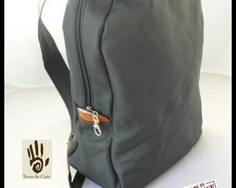 Backpack black calfskin bag